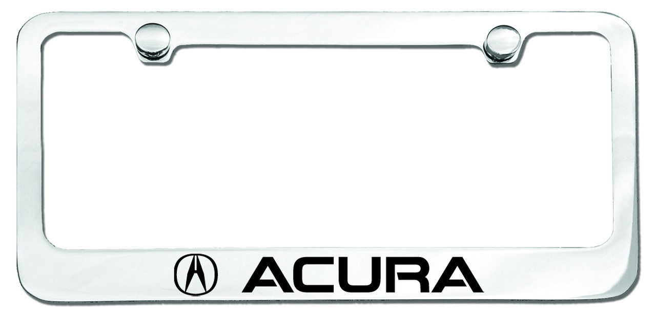 Acura Logo License Plate Frame Chrome CarDetailscom - Acura license plate