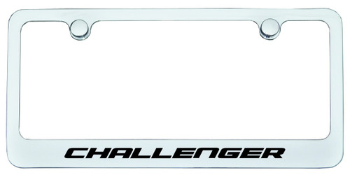 Dodge Challenger License Plate Frame Chrome - CarDetails.com