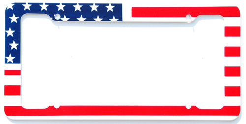 Flag Patriotic License Plate Frames