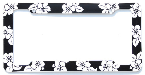 Hawaiian Tropical and Palm Tree License Plate Frames