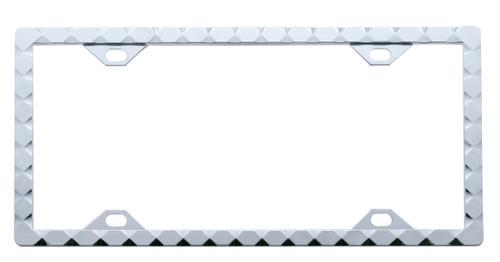 Diamond Chrome License Plate Frame