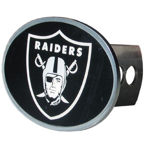 Oakland Raiders Hitch Cover Class II and III Metal Oval