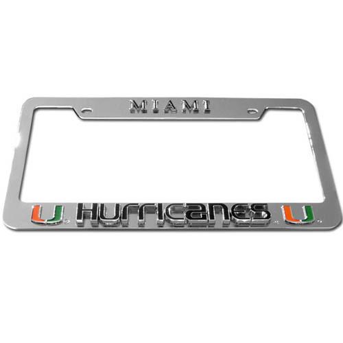 Miami Hurricanes The U License Plate Frames