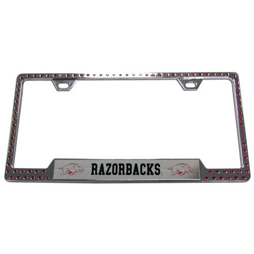 Arkansas Razorbacks Bling License Plate Frame - CarDetails.com