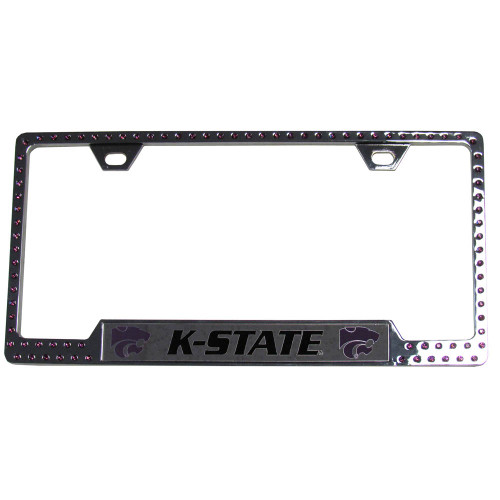 Kansas State Wildcats Bling License Plate Frame - CarDetails.com