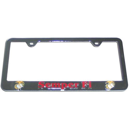 US Marine Corps Semper Fi License Plate Frame - CarDetails.com