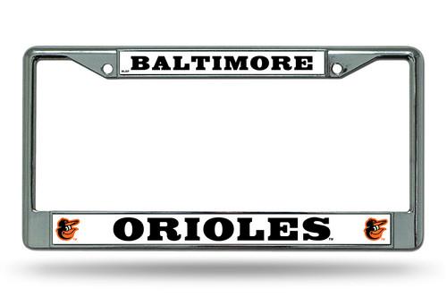 Baltimore Orioles Chrome License Plate Frame