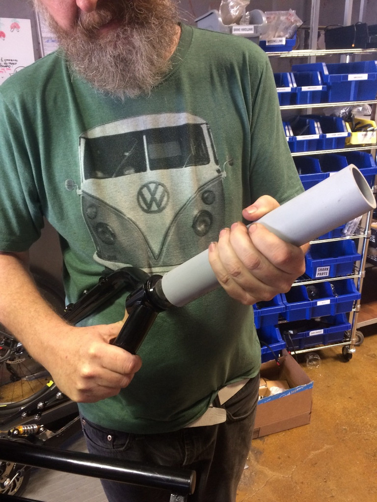 we include this PVC pipe which makes installing the crown race a snap with no special tools.