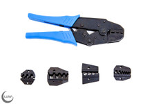 Ratcheting Crimper Set with Interchangeable Jaws