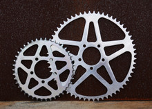 60 tooth Luna Cycle sprocket versus 42 tooth sur-ron sprocket