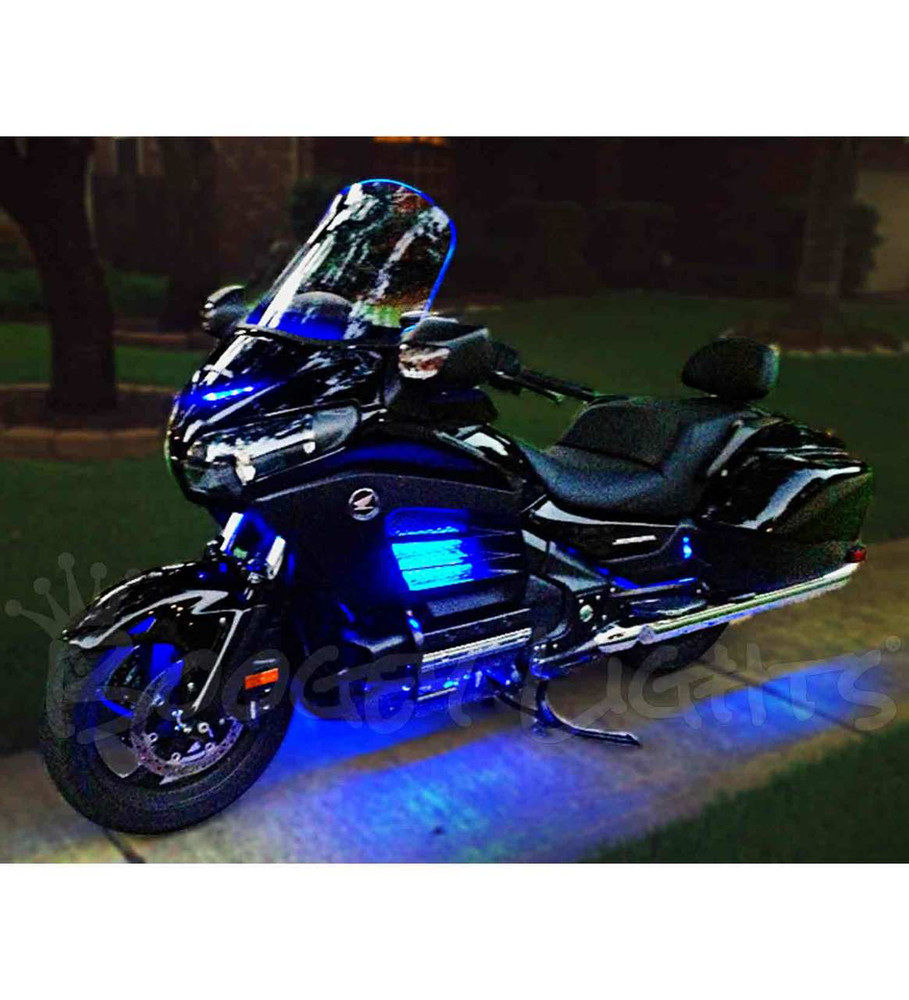 Value Series Single Color Gold Wing Motorcycle Led Light Kit