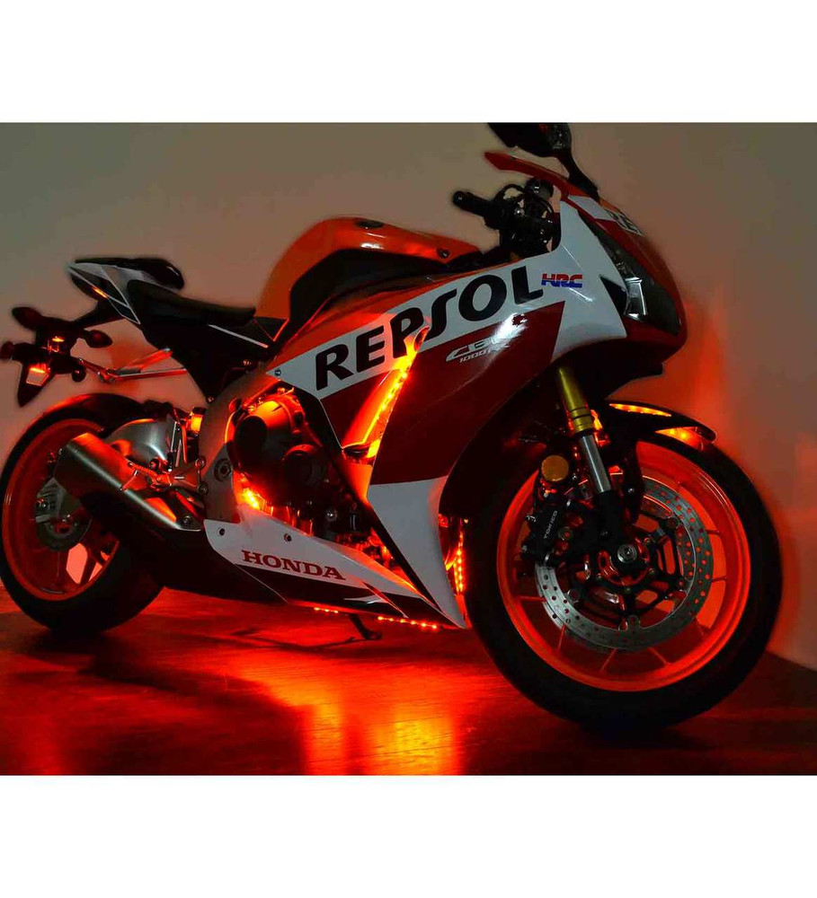 led motorcycle pictures  Value Series Single Color Sport Bike Motorcycle LED Light Kit