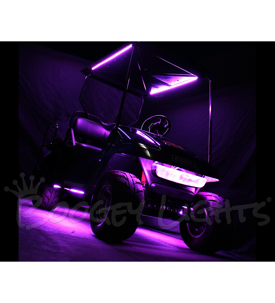 Golf Cart Canopy LED Kit (Multi-Color) - Boogey Lights Golf Cart Neons on led golf cart, black golf cart, beach cruiser golf cart, orange golf cart, tye dye golf cart, matte golf cart, silver golf cart, spirit golf cart, malibu golf cart, breeze golf cart, jenkins golf cart, brown golf cart, nitrous golf cart, glitter golf cart, glow golf cart, metal golf cart, hippie golf cart, miata golf cart, rainbow golf cart, new style golf cart,