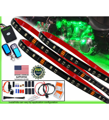 PREMIUM SERIES Multi-Color 45 LED Motorcycle Engine Light Kit with Ground Effects