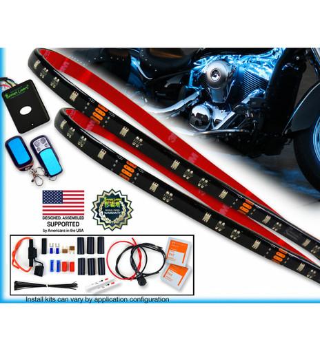 Premium Series Multi-Color 30 LED Motorcycle Engine Light Kit