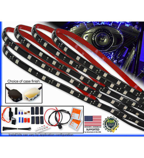 Value Series Single Color Touring/Bagger Motorcycle LED Light Kit