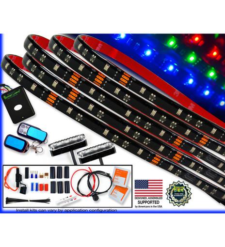 Premium Series Multi-Color Touring/Bagger Motorcycle LED Light Kit