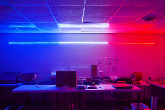 Red White Blue Hi Intensity Led Strip With 15 Power Lead