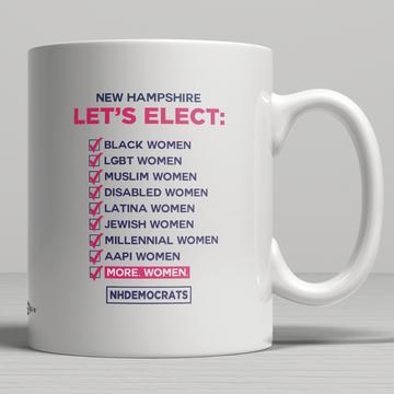 """Let's Elect"" graphic (11oz. Coffee Mug)"