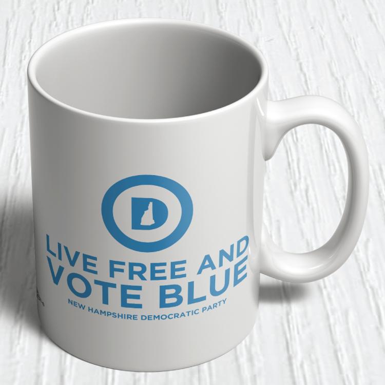 """""""Live Free And Vote Blue""""  (11oz. Coffee Mug)"""