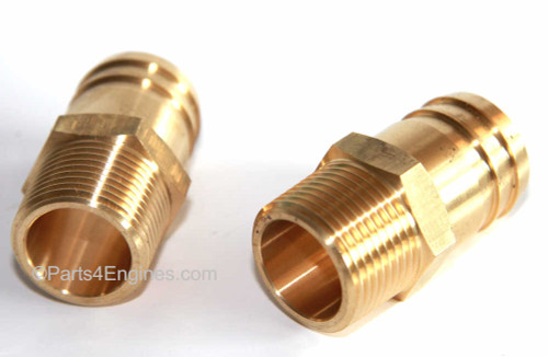 Perkins M90 Raw Water Pump Hose Tails pair from parts4engines.com