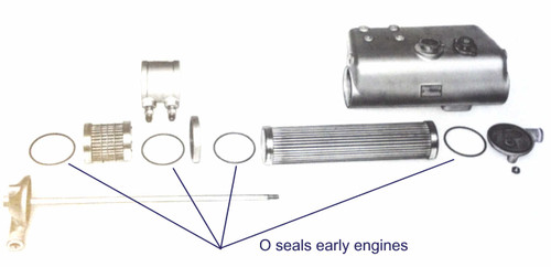 Early combined heat exchanger and oil cooler - Perkins 4.236 Heat Exchanger & Oil Cooler Seal Kits from parts4engines.com