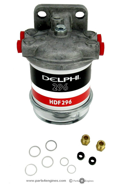 Perkins 4.154 fuel filter assembly with glass bowl from parts4engines.com