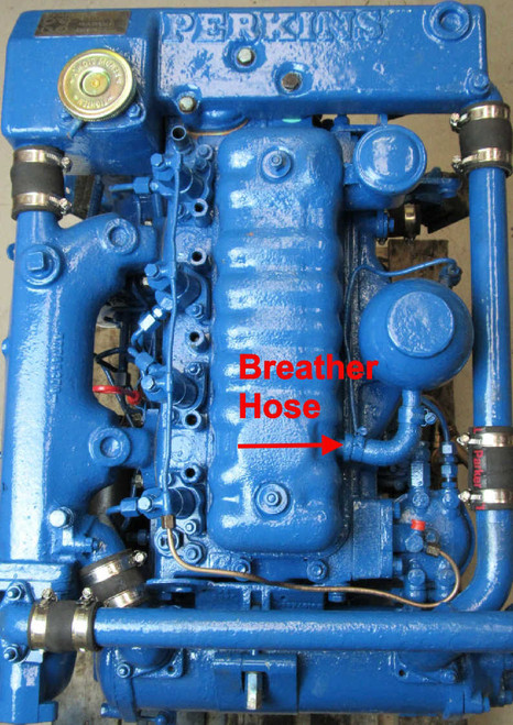 Perkins 4.99 Breather Pipe location from parts4engines.com