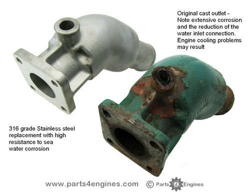 Perkins Perama M25 Stainless steel exhaust outlet - parts4engines.com