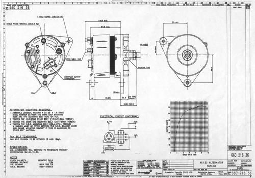 Perkins 4 107 Alternator