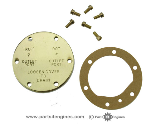 Perkins M30 raw water pump end cover kit from parts4engines.com