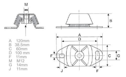 Perkins Prima M80T engine mount - parts4engines.com
