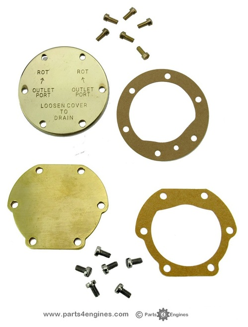 Volvo Penta MD2010 raw water EARLY & LATE pump End Cover kit - parts4engines.com