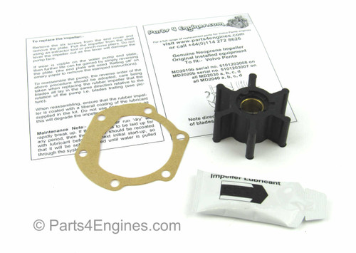 Volvo Penta D2-40 Raw water pump impeller kit from parts4engines.com