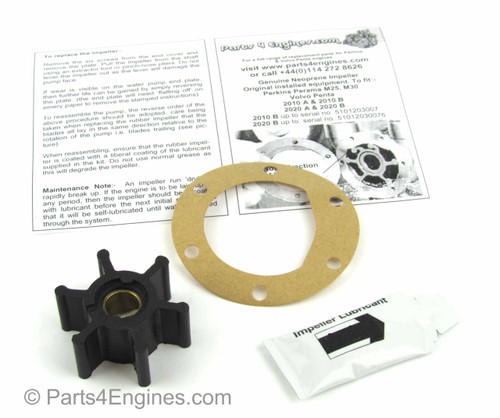 Volvo Penta MD2030 raw water pump impeller and service kit from Parts4engines.com