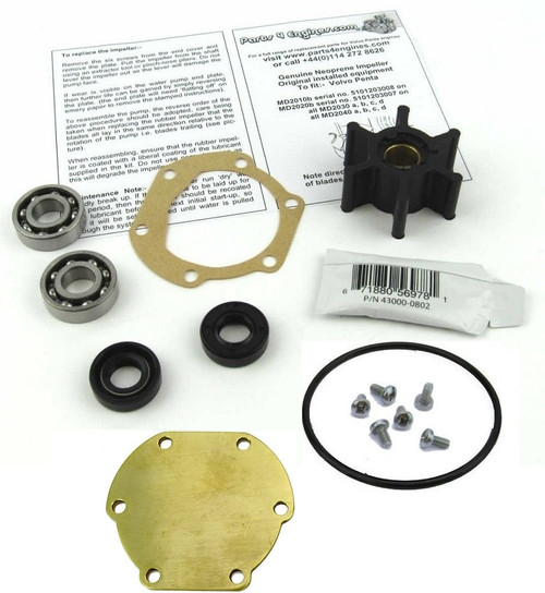 Volvo Penta MD2030 raw water pump late rebuild kit - Parts4engines.com