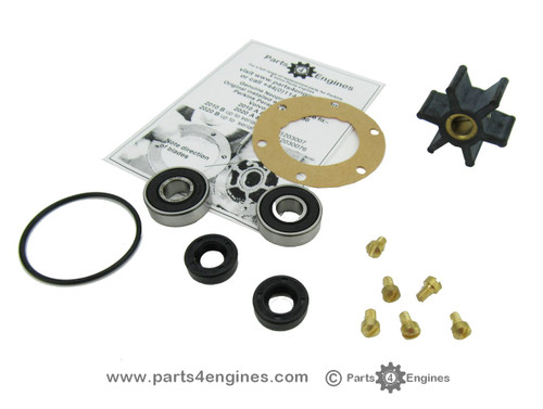 volvo penta md2020 raw water pump impeller and service kit