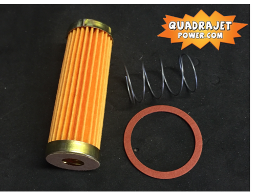 Fuel filter kit, long. Filter, early inlet gasket, spring