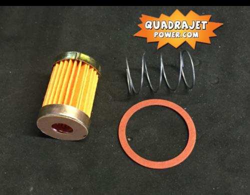 Fuel filter kit, short. Filter, early inlet gasket, spring