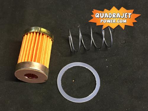 Fuel filter kit, short. Filter, late inlet gasket, spring