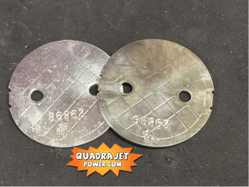 Primary throttle blades pair, used
