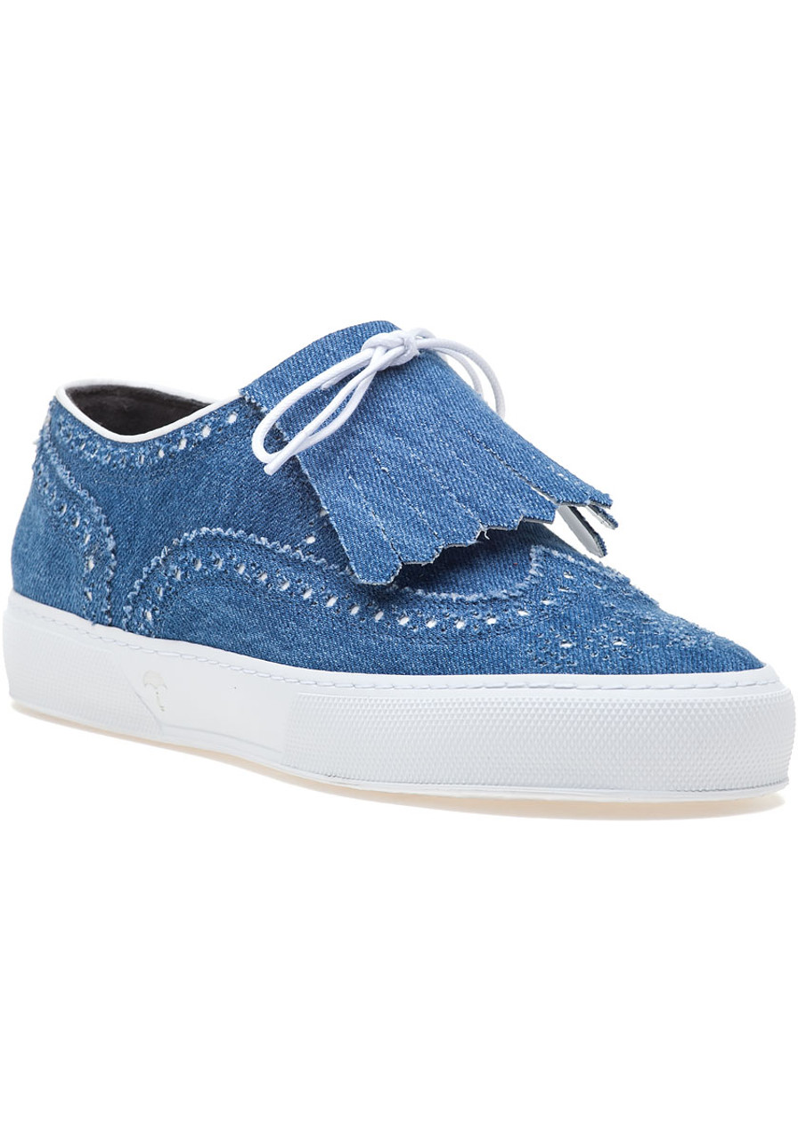 a324d6b90b66 Tolka Denim Fabric Oxford Sneaker - Jildor Shoes
