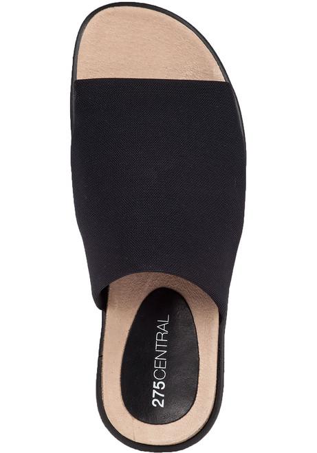 W298 Slide Black Stretch Fabric Jildor Shoes