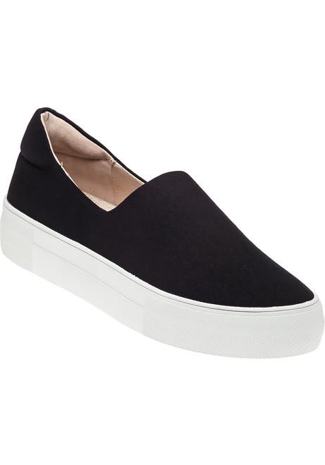 55269ba894bc Ariana Slip On Sneaker Black Fabric