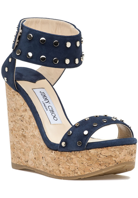 fd738f198a0 Nelly 120 LKZ Wedge Navy Gold Suede