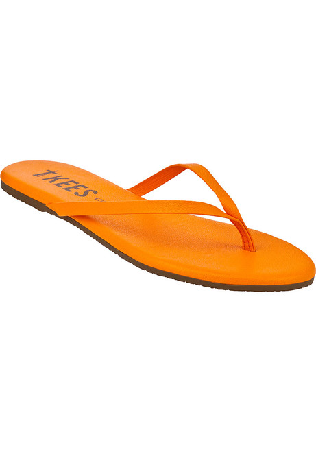 1652e9568b7fd Zincs Flip Flop Orange Leather