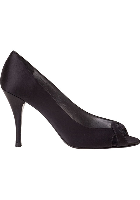 Girly Pump Black Satin Jildor Shoes