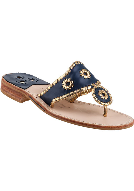 b8bfc1dcbfc Nantucket Thong Sandal Navy Leather