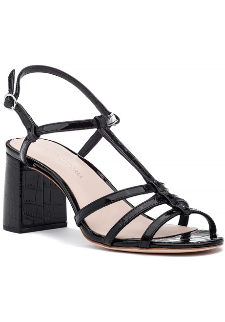 73f03834bb50 Elena Sandal Black Patent Leather