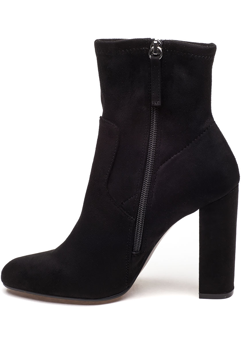 Edition Black Microsuede Embroidered Boot Jildor Shoes